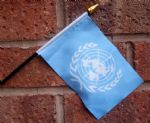 HAND WAVING FLAG (SMALL) - United Nations